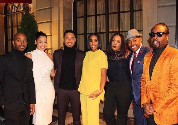 Tim Spoon, LaLa, Tererence Junior, Kelly Rowland, News Caster, Will Packer e Wale (Foto: Reprodução)