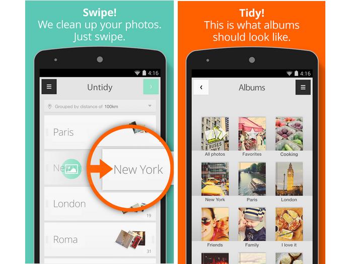 Tidy é um aplicativo que organiza fotos em álbuns (Foto: Divulgação)