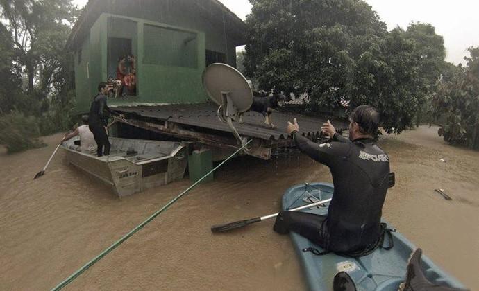 Chuva São Sebastião Maresias (Foto: Jorge Mesquita/ Arquivo Pessoal)