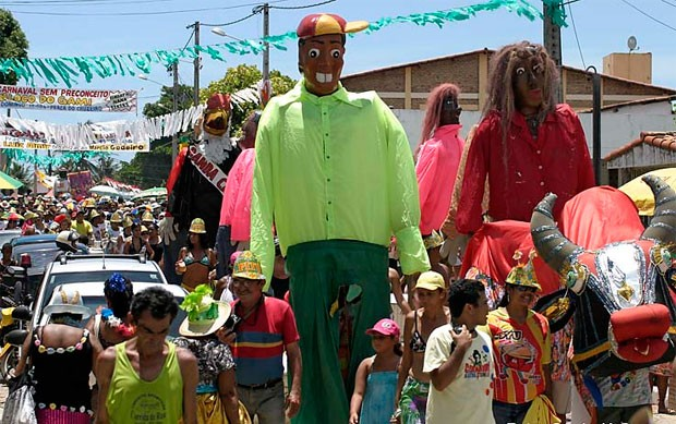 Carnaval na praia da Redinha é um dos mais tradicionais de Natal (Foto: Canindé Soares)