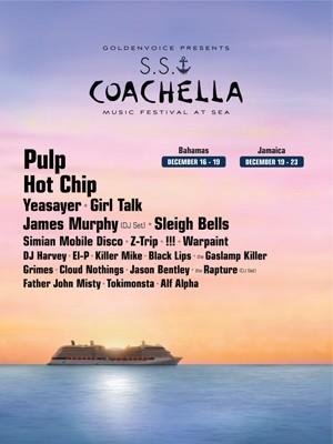 Cartaz do cruzeiro do festival Coachella com Pulp e Hot Chip (Foto: Reprodução/Sscoachella.com)