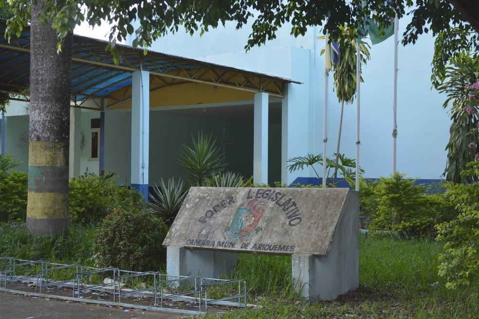 Câmara Municipal de Ariquemes (Foto: Ana Claudia Ferreira/Rede Amazônica)