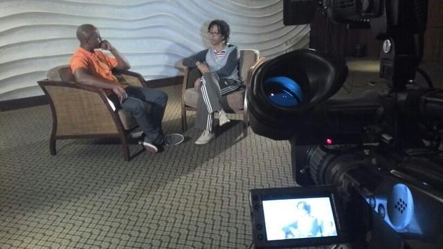 Ed Soul entrevista Djavan (Foto: Sarah Castro/RBS TV)