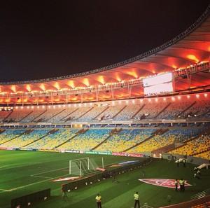 iluminação do Maracanã Fluminense (Foto: Reprodução / Instagram)