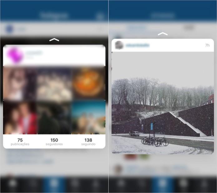 Pré-visualizando perfis e fotos no Instagram (Foto: Reprodução/Helito Bijora)