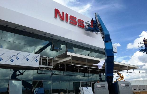 Construção da fábrica da Nissan em Resende (RJ) (Foto: Divulgação)