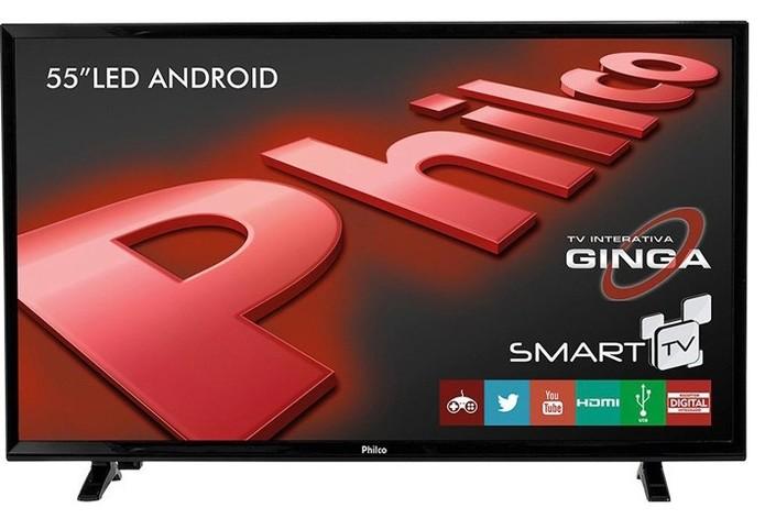 Smart TV da Philco conta com o sistema operacional Android  (Foto: Divulgação/Philco)