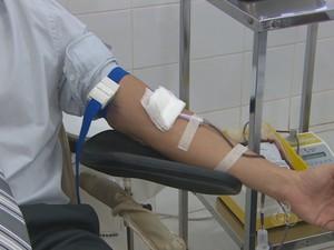 Fhemeron faz campanha para aumentar estoque de sangue (Foto: Reprodução/TV Rondônia)
