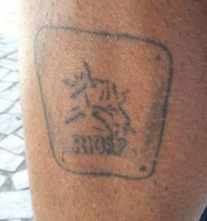 Franck Caldeira maratona tatuagens (Foto: GloboEsporte.com)