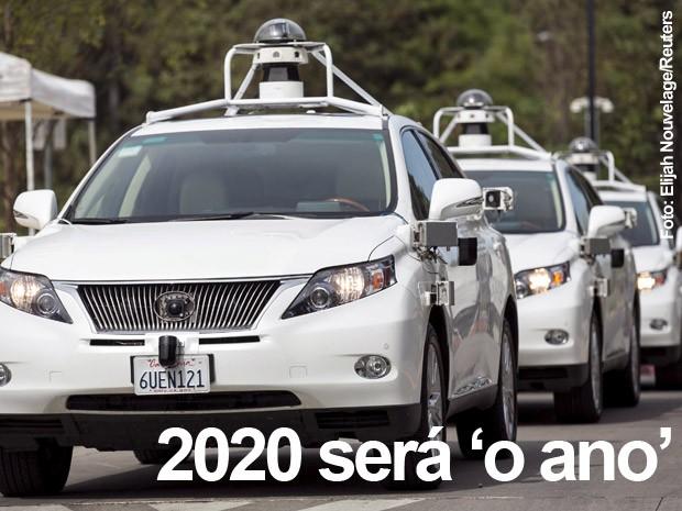 2020 é o ano em que várias montadoras acreditam que o carro autônomo estará nas ruas (Foto: Elijah Nouvelage/Reuters)
