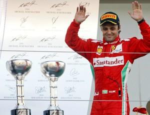 Felipe Massa chega em segundo no GP do Japão e encerra jejum de pódios (Foto: EFE)