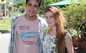 Marina Ruy Barbosa e Miguel Rômulo gravam cenas na Lagoa