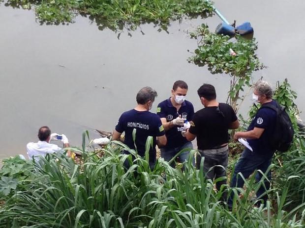 Peritos identificaram o sexo da vítima pelo quadril que foi encontrado em bolsa de viagem (Foto: Gilcilene Araújo/G1)