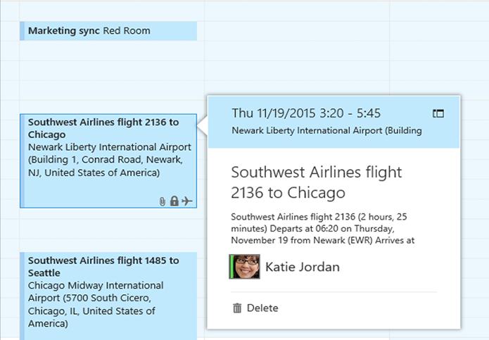 Outlook na web começa a adicionar voos na agenda automaticamente, como no Gmail (Foto: Divulgação)
