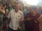 Eduardo Paes visita barracões de escolas de samba do Rio