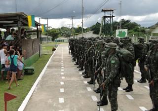estirão do equador (Foto: 8º Batalhão de Infantaria de Selva/Divulgação)