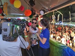 G1 Paraíba transmitiu ao vivo todo o desfile do Muriçocas do Miramar (Foto: Krystine Carneiro/G1)