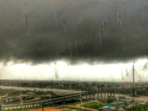 Previsão do tempo - Chuva  (Foto: Jhonatas Fabrício/Arquivo pessoal)
