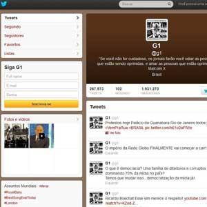 Twitter G1 (Foto: Twitter)