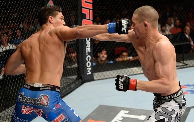 UFC Seth Baczynski e Alan Jouban (Foto: Agência Getty Images)