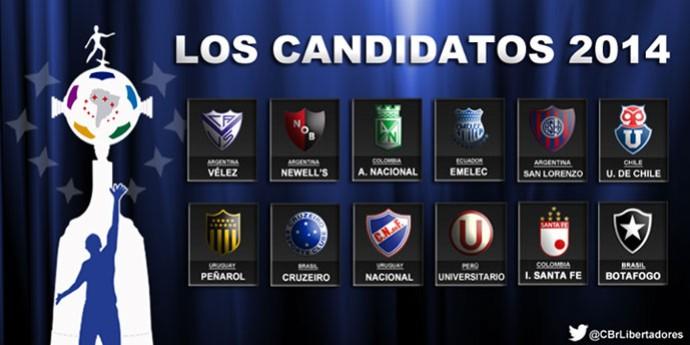 Libertadores Los Candidatos 2014 (Foto: Divulgação)