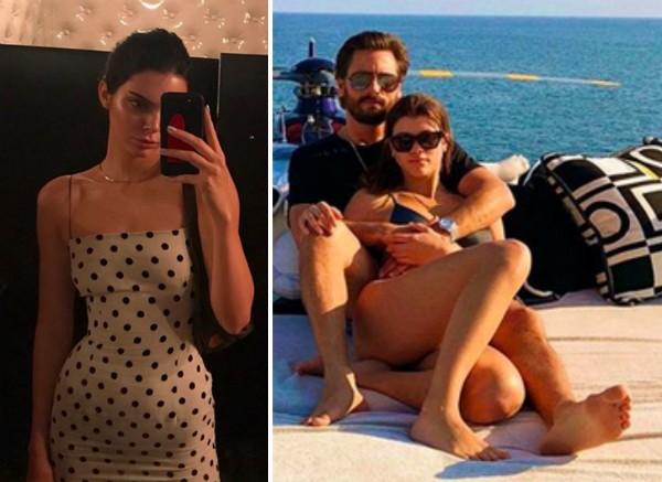 A modelo Kendall Jenner e o empresário Scott Disick com a namorada Sofia Richie (Foto: Instagram)