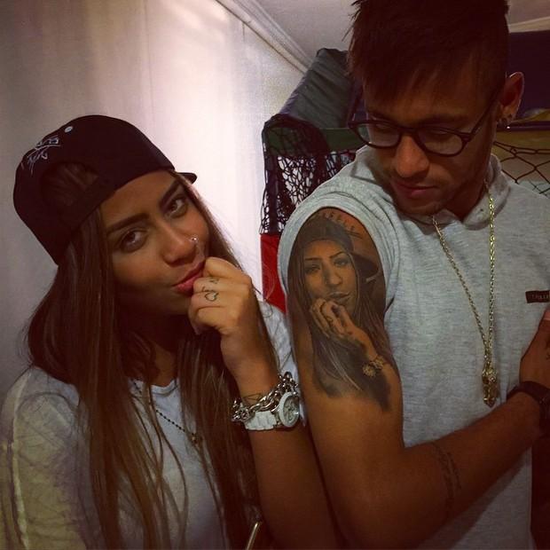 Rafaella Santos e Neymar em Santos, São Paulo (Foto: Instagram/ Reprodução)