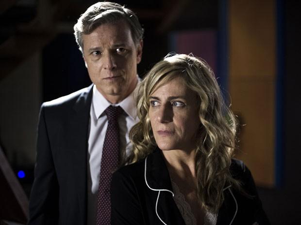 Na trama de Gloria Perez, amarga personagem é casada com Dias, personagem de Marcello Novaes (Foto: Estevam Avellar/Globo)