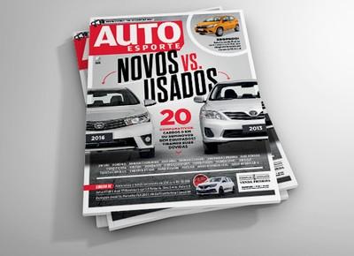 A revista Autoesporte de setembro traz um embate entre modelos novos versus usados (Foto: Autoesporte)