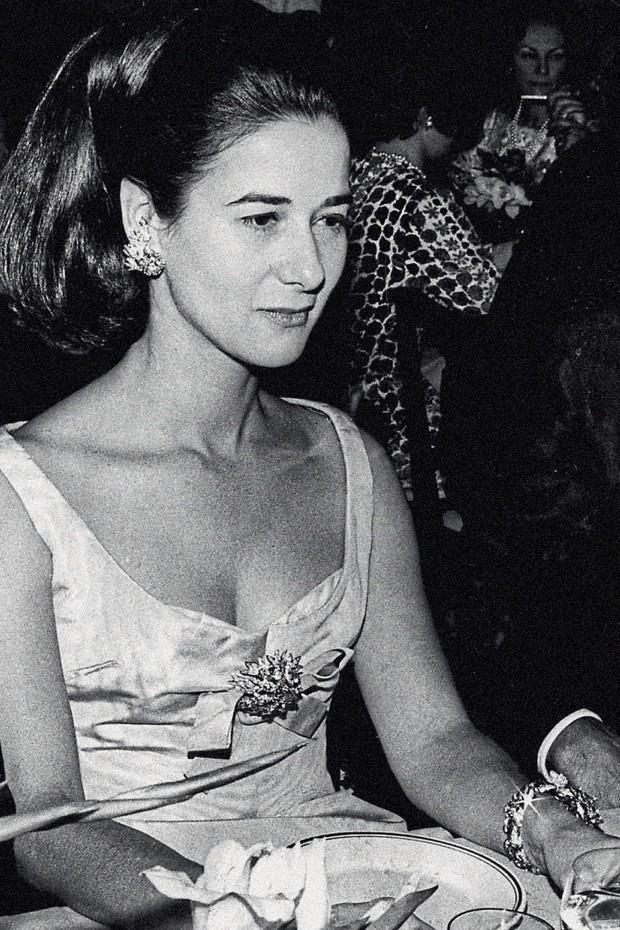 Em evento de moda no Rio, em 1966 (Foto: Agencia O Globo e Folhapress)