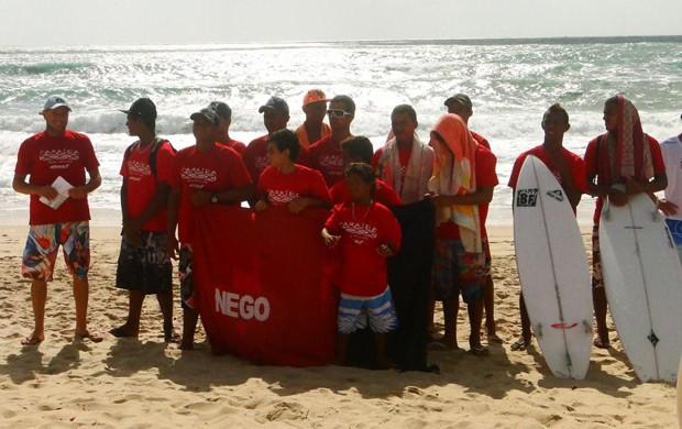 seleção paraibana de surfe (Foto: Sérgio Aguiar / CBS)