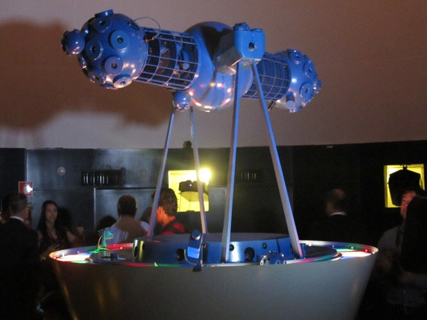 Sala de projeções do Planetário de Brasília que foi reinaugurado nesta quarta (11) (Foto: Lucas Salomão/G1)
