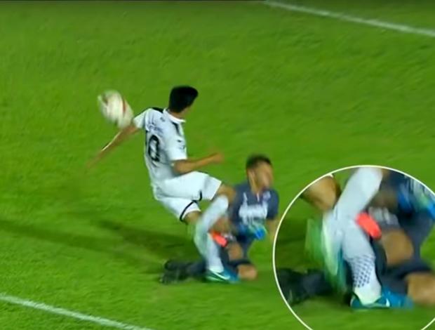 Jogador sofre lesão grave no Paraguai