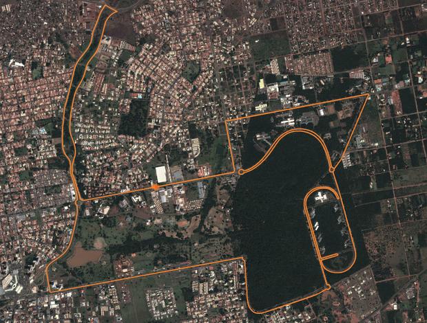 Percurso de 21 km da meia-maratona Volta das Nações 2013 (Foto: Reprodução)