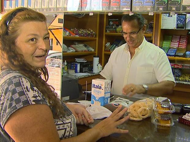 A vendedora Fabiana Lina conta que não se cadastrou no programa fiscal (Foto: Reprodução/EPTV)