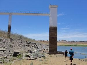 Barragem do Chapéu está com 7,4% da capacidade (Foto: Ângelo Carvalho/Arquivo pessoal)