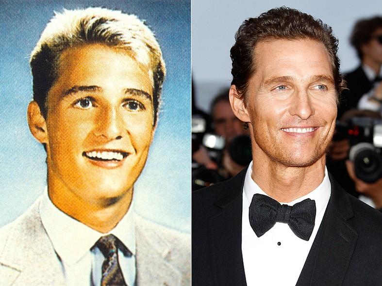 Durante seu último ano na High School de Longview, no Texas, Matthew McConaughey  foi eleito por seus colegas como o aluno mais bonito. Alguém duvida? A foto é de 1988