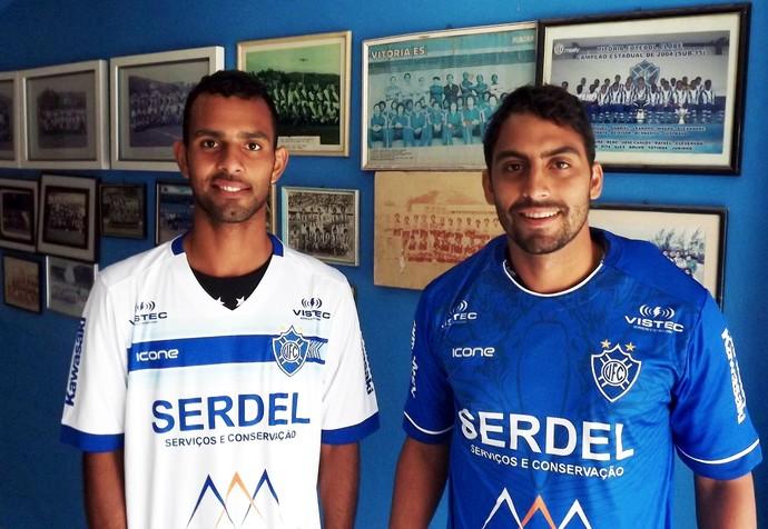 Meias Bruno Paixão e Caio Poletti foram contratados pelo Vitória (Foto: Yan Falchetto/Vitória FC)
