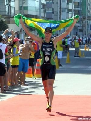 Triatleta de Santos, Bruno Matheus (Foto: Simone Pustiglione  / Divulgação)