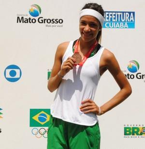 Bárbara Borges - Atletismo - Piauí - Olimpíadas Escolares 2012 (Foto: Marconni Lima/Seduc)