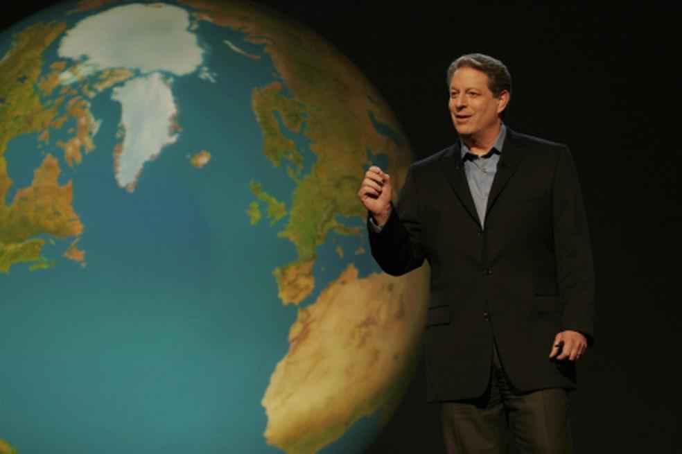 Al Gore em cena de 'Uma verdade inconveniente', de 2006 (Foto: Divulgação)