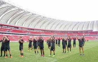 Inter faz último treino antes de pegar o São José-RS com torcida no Beira-Rio