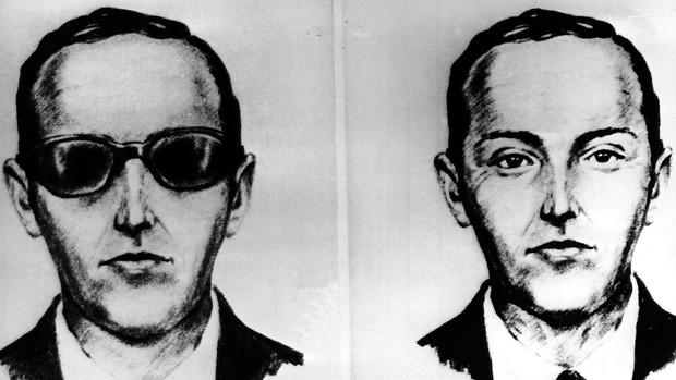 Retrato de Dan Cooper, responsável pelo sequestro da aeromoça (Foto: Divulgação/FBI)