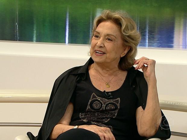Eva Wilma se apresenta em BH (Foto: Reprodução/ TV Globo)