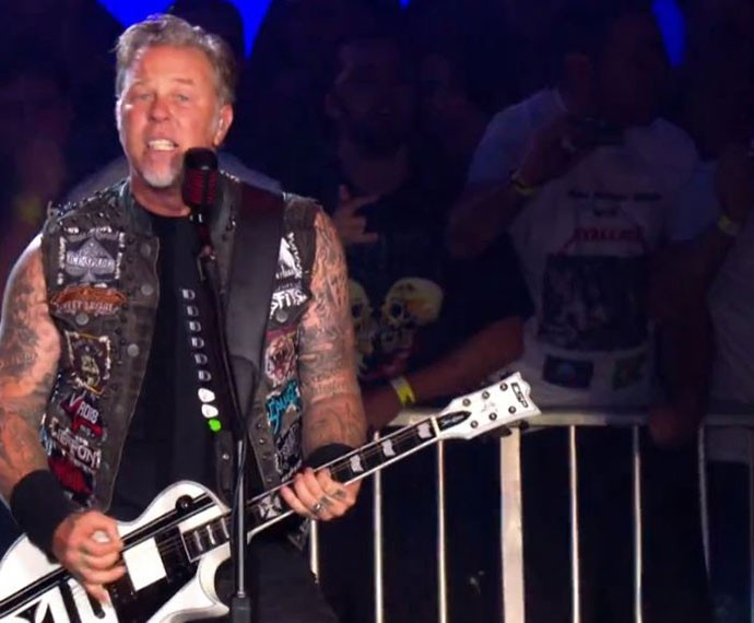 Metallica arrasa no RIR (Foto: Gshow)