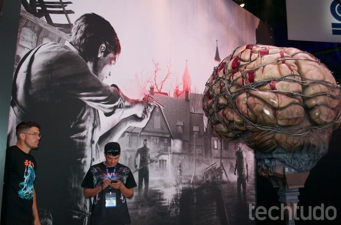 The Evil Within era um dos jogos que pode ser testado na E3 2014 (Foto: Monique Mansur/ TechTudo)