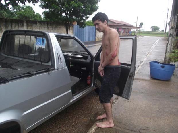 Leonel Vieira Silva foi encontrado desidratado e com ferimentos em Talismã, no Tocantins (Foto: Jaksom Berolino Dourado/Defesa Civil de Talismã)