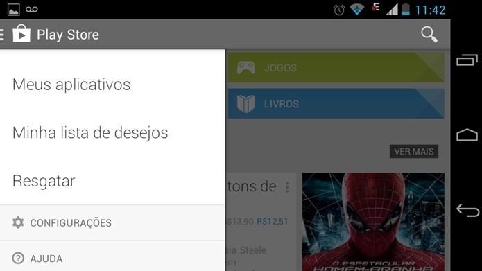 Acesse as configurações do aplicativo Play Store (Foto: Reprodução / Dario Coutinho)