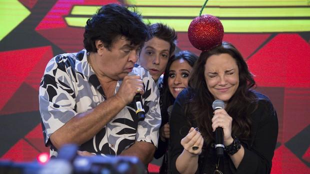 Sidney Magal e Ana Carolina no Tudo Pela Audincia (Foto: Samuel Kobayashi/Multishow)