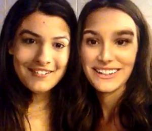 Marina e Giulia de cara nova! (Foto: Reprodução)